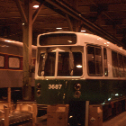 Kinki Sharyo's Light Rail Vehicle and MBB's commuter coach undergoing final assembly.